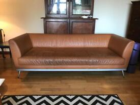 Ligne roset leather sofa