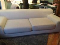 Lovely light grey ikea (KIVIK) Sofa. Practically new...ABSOLUTE BARGAIN