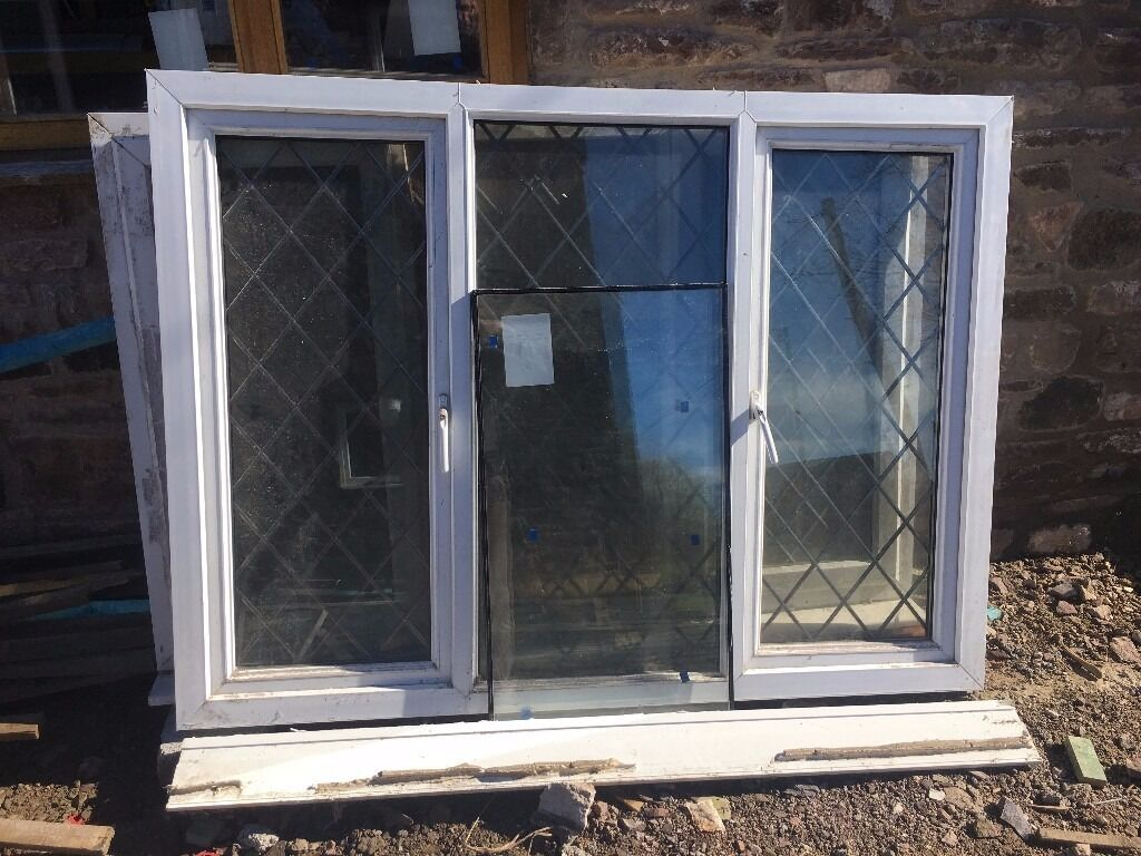 3 pane window frame matching upvc 3pane windows with leaded glass in lydney