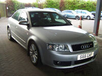54 PLATE LATE 2004 AUDI A4 SPORT TDI HIGH BHP WELL MAINTAINED NEW WHEELS/TYR NOV 17 MOT £1895ES