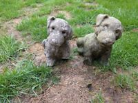 Pair of Puppies Garden Ornaments