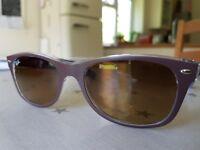 RayBan womens Wayfarer sunglasses. One size, Matt brown. Worn once