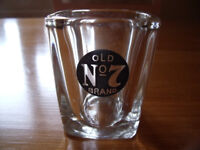 Jack Daniel's Old No. 7 Brand advertising, small square shot glass. Excellent condition. £2.50 ovno.