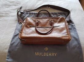 100% authentic Mulberry Heathcliffe Tan Briefcase