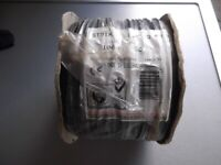 Unopened 100 metre reel of 2.5 sq.mm single core stranded black cable - manufactured to BS6004