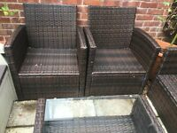 Dark Brown Rattan furniture for Patio
