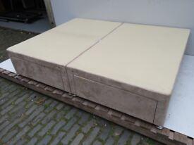 King Size Suede Divan Bed Case Good Condition