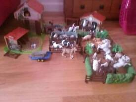 Brambledale farm and schleich animals