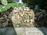 LARGE QUANTITY OF SANDSTONE ROCKERY STONE AND MARSHALITE STONE FACED WALLING NOW FREE!!!!