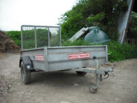 Wessex Trailers 6' x 4' Galvanized Flat Bed Trailer
