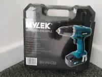 Mylek Cordless Drill + bits Brand new