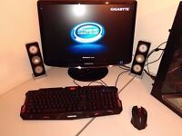 "CUSTOM GAMING BUNDLE - QUAD CORE - 22"" FULL HD MONITOR - GEFORCE GT - 12GB RAM - 600W PSU - GAMES"