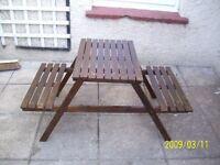 children' garden bench/table