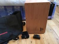 Schlagwerk Cajon la Perù (beechwood) + Cajon Flap + Case + Foot Tambourine + Shake Hands For Sale!