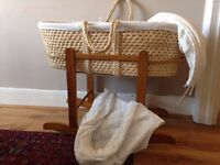 John Lewis Moses Basket and Extras
