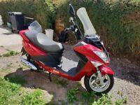 Sym Joyride 200EFI Evo Motorcycle Maxi Scooter 2600 miles 1 year MOT 2015 model New 3800