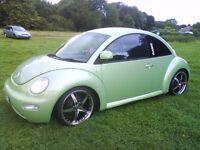 "@@ STUNNING CUSTOM BUG VW BEETLE,1 YEAR MOT,LADY OWNED,19""ALLOYS,LOWERED,TINTS,SPOILER,SHOW CAR@@"