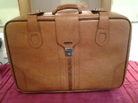 Vintage Revelation Tan Leather Soft Suitcase-In Very Good Condition-Proceeds To Local Charity