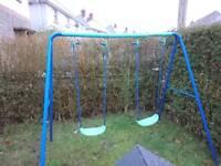 Double kids swing