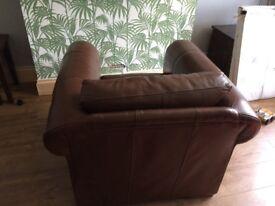 Original Thomas Lloyd Dark Tan Leather Sofa