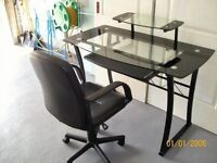 Computer desk and chair - as new