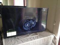 42 inch Sony tv cracked screen still turns on