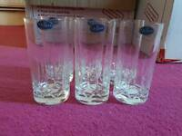 6x Queens Crystal Hi-Ball Glasses