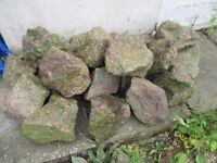 PINK GRANITE ROCKS FOR ROCKERY - 21 PIECES