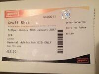Gruff Rhys of Super Furry Animals - Concert Gig Ticket Mon 30th Jan 2017 London ICA