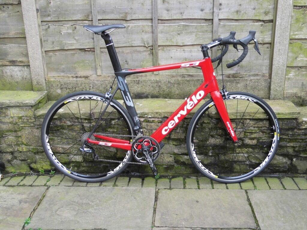 Cervelo S3 Road Bike 11 Speed Di2 Shimano Ultegra 61cm Carbon