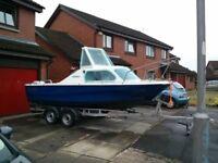 Shetland 536 Motor Boat, Honda 50 four stroke engine and trailer for sale.