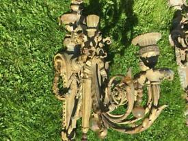 Two 1890 antique french wall chandelier