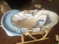 Moses Basket with Stand - Clair de Lune