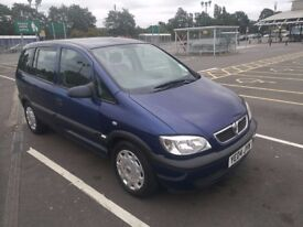 Vauxhall zafira 2004 1.6 Petrol, Only 33500 genuine miles