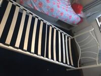 Brand new unused Cream metal single bed frame