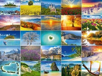 30 verschiedene Postkarten / Ansichtskarten mit Landschaften / Natur
