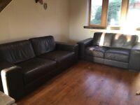 2 & 3 Italian Natuzzi leather sofas