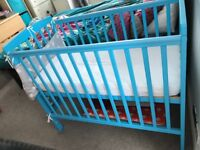 Space saver cot with new mattress, excellent condition as wasn't used for long.
