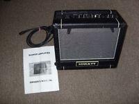hiwatt BSK-15 8 busker amplifier. busking amp