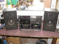 Technics Vintage 3 Section Seperates & Speakers, Model SU-5A.