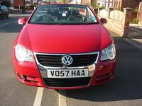 vw eos. 1.6 fsi hardtop convertible. 2007.57 plate.80,000 miles. 2 owners. service history
