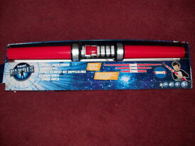 Double Ended Jedi or Sith Light Sabre Boxed with Light and Programmable Sound Extendable Blade
