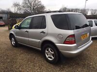 MERCEDES ML320 2001 FULLY LOADED TV DVD SUNROOF EXCELLENT CONDITION