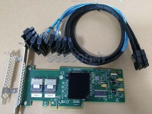 LSI SAS 9210-8i 8-port 6Gb/s PCIe HBA RAID  Controller card+SFF-8087 to SFF-8482