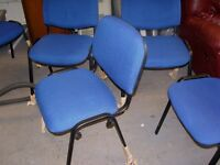 Office Reception Waiting Room Stackable Chairs in Blue