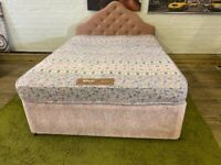 DOUBLE BED BASE WITH 4 DRAWERS + HEADBOARD + MATTRESS LOTS OF STORAGE FREE DELIVERY