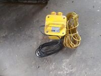 Transformer and 110volt extension lead