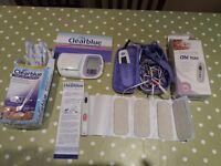 Ovulation clearblue digital fertility monitor testing kit.
