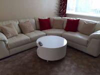 White corner suite Soft leather