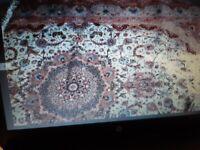 Tabriz wool & silk Persian rug